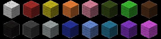 Lãs  coloridas Minecraft