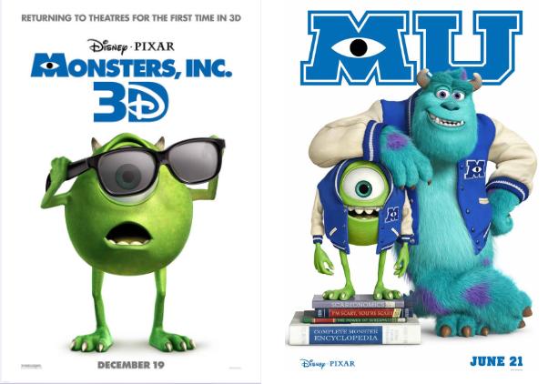 Monstros S.A 3D e Universidade dos Monstros