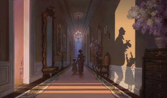 A princesa e o sapo-  Arte conceitual