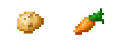 batatas e cenouras