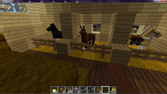 Estabulo (interior) Minecraft