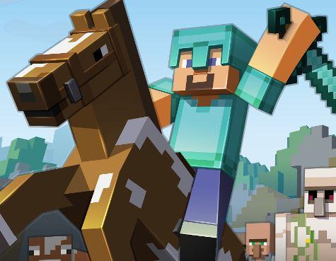 Minecraft logo-cavalos