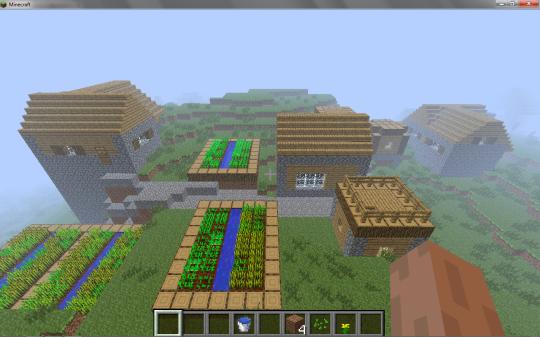 Vila Minecraft - plantações