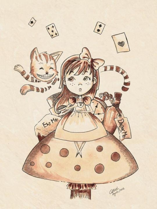 Alice in wonderland by akriel