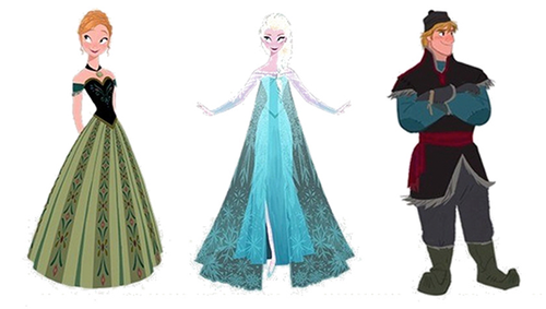 Frozen Personagens ConceptArt