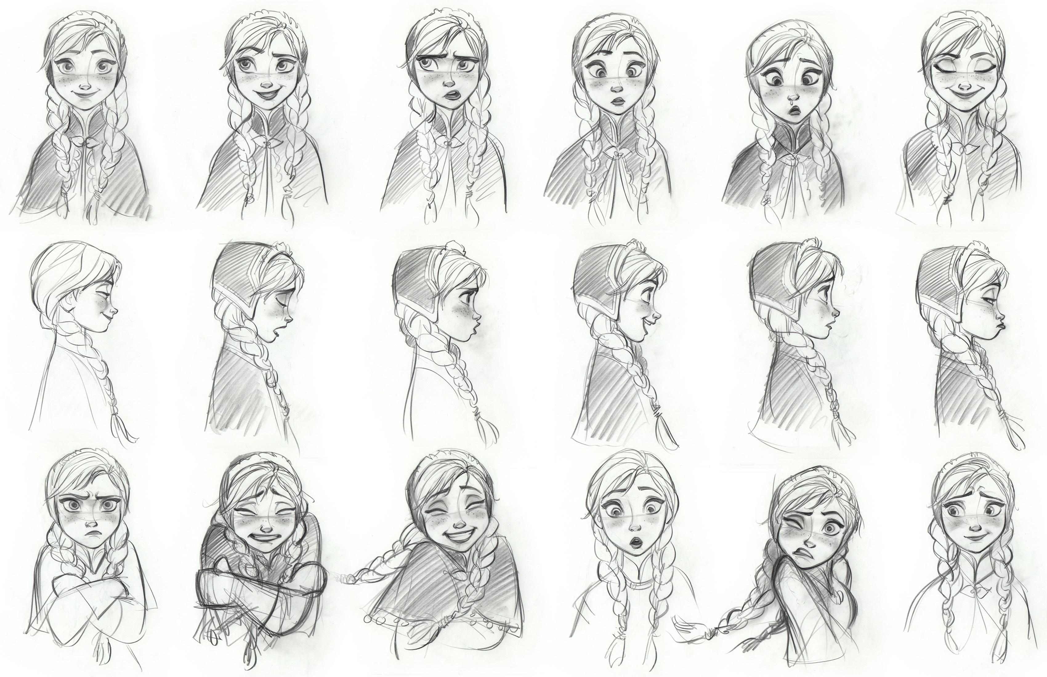 Personagens Frozen - Disney