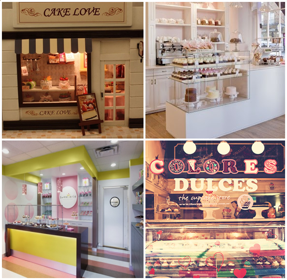 Loja cupcake - inspiração