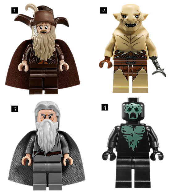 personagens Hobbit-Lego