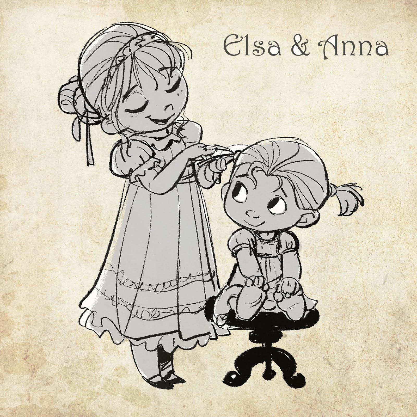 Arte Conceitual Elsa E Anna Da Animacao Frozen Por Jim Kim