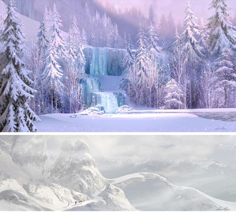 Arte conceitual Frozen - Disney