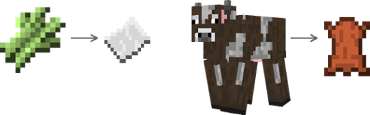 Papel - couro Minecraft