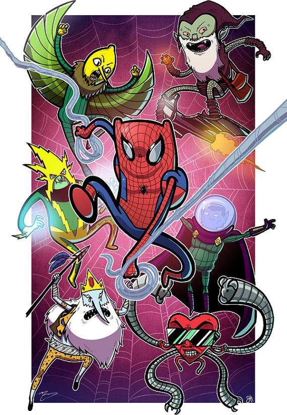 Adventure time spider man