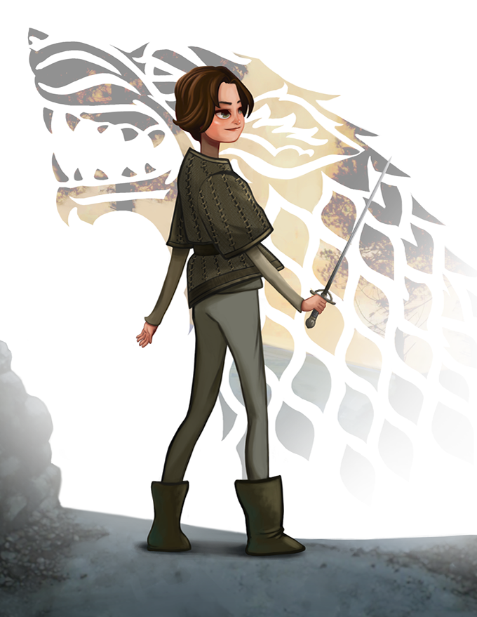 arya Game of thrones art