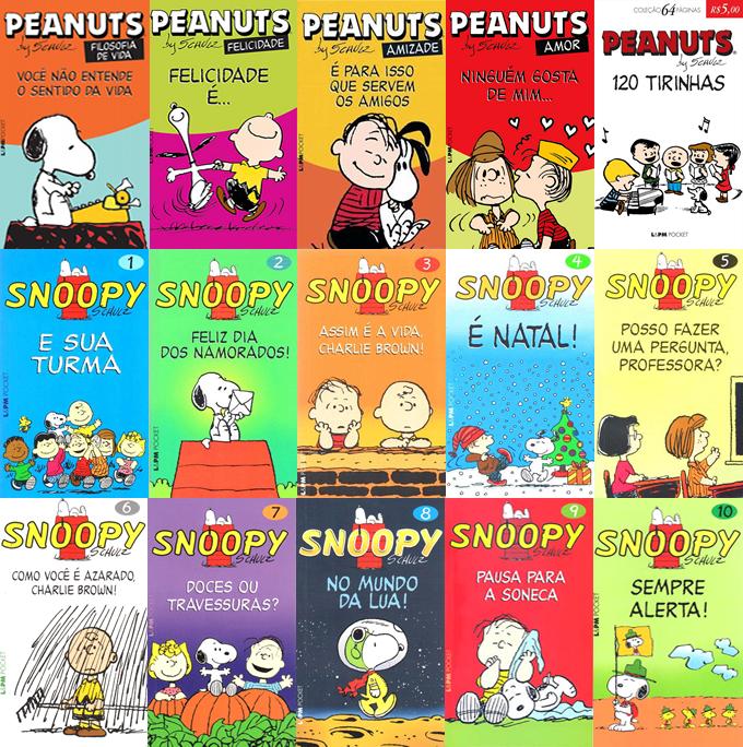 Capas Peanuts e Snoopy pocket