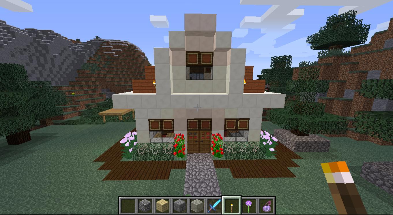 Minecraft Constru231245es Casa 1 Colorindo Nuvens : minecraft house 1 from colorindonuvens.com size 1362 x 746 png 494kB