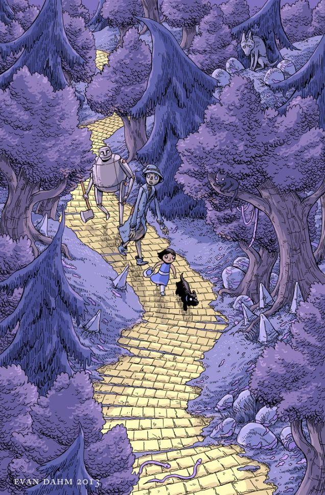 Magico de Óz por Evan Dahm