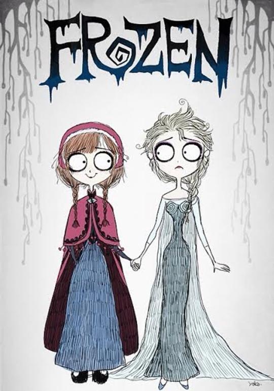FrozenTimBurton-ColorindoNuvens